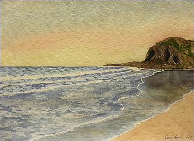 En strand påJersey